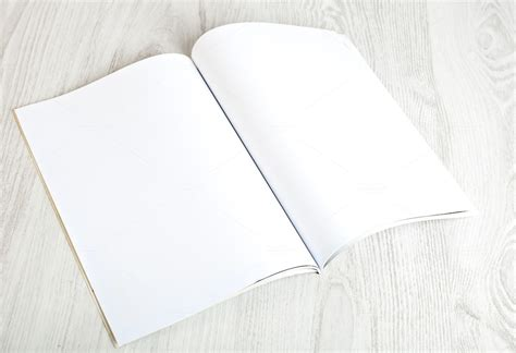open magazine  blank pages abstract