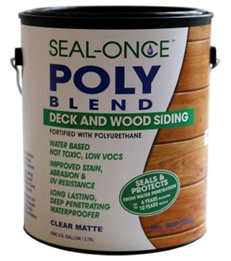 lasting deck stain sealer seal once poly blend waterproofing wood sealer