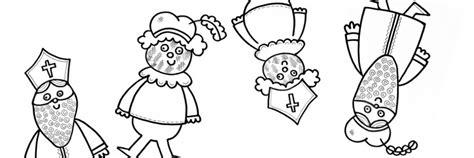 Kleurplaat Sint En Iet by Kleurplaat Sinterklaas En Piet En Andersom Niet