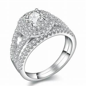 new 2 carats platinum plated wedding ring sets engagement With platinum wedding rings sets