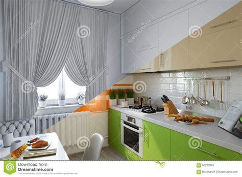 Kitchen Design Great Mix Materials by 3d Render Of Kitchen Design In A Modern Style A Mix Of