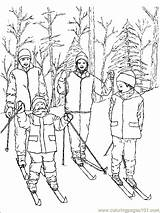 Coloring Pages Skiing Sports Printable Ski Sheets Sheet Sport Coloringpages101 Others sketch template
