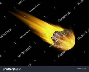 Falling Asteroid On Black Background (Hight Resolution 3d ...