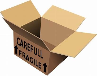 Box Clipart Fragile Shipping Parcel Clip Boxes