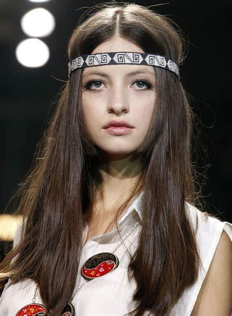 hippie hairstyles  long hair elle hairstyles