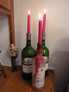 wine bottle candle holder insert design decoration With kitchen colors with white cabinets with candle holders for wine bottles