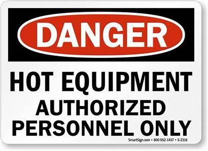 Equipment Sign Danger Signs Warning Surface Personnel