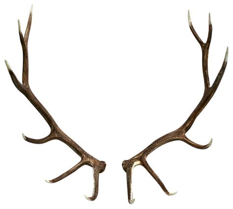 Faux Elk Antler Set, Right and Left Rustic Home Decor