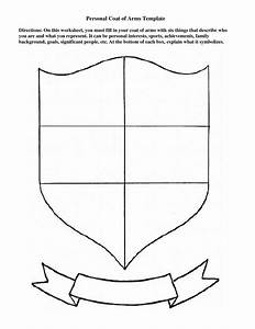 personal coat of arms template education pinterest With school shield template