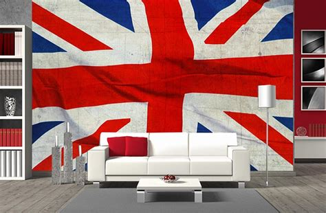 decoration chambre theme londres drapeau anglais imprimé en poster panoramique union