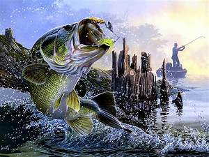 Online Buy Wholesale bass fishing paintings from China