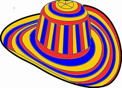 Colombia Sombrero Clipart Hat Gallon Ten Carnaval