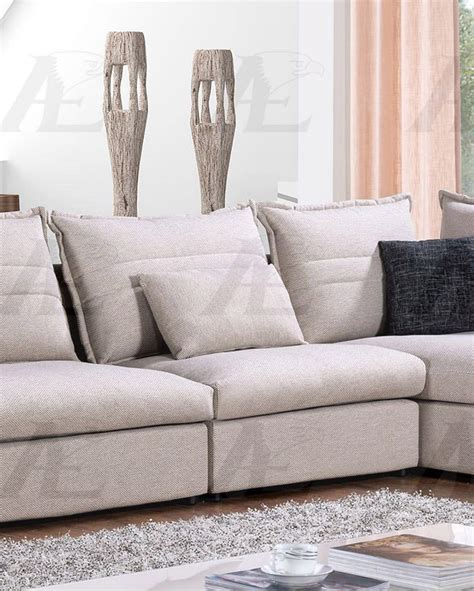 sofa loveseat and chaise set american eagle ae l2319 gray fabric tufted sofa chaise and