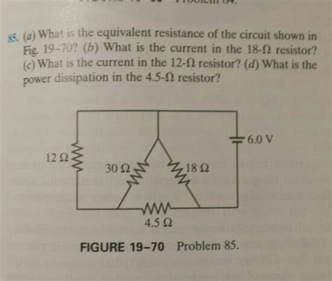 Solved What The Equivalent Resistance Circuit