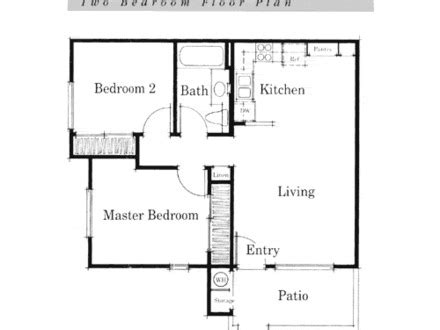 Simple Open Floor Plans For Houses Placement by Small House Floor Plan Small Two Bedroom House Plans
