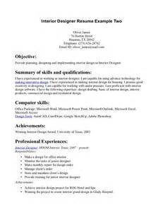 microsoft basic resume exles senior interior designer resume sle