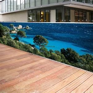 Brise Vue Decoratif Exterieur : brise vue toile 3 ml mer turquoise ~ Nature-et-papiers.com Idées de Décoration