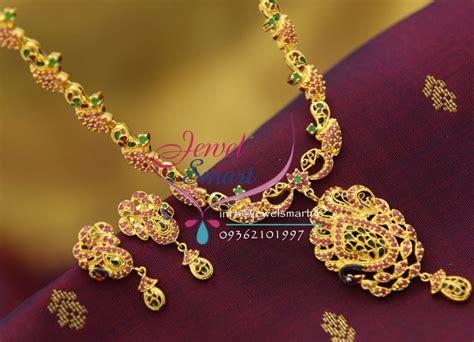 nl ruby enamel peacock gold design imitation jewellery