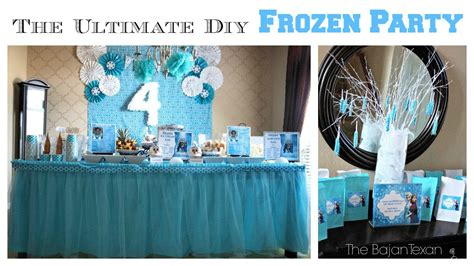 ultimate diy frozen party youtube