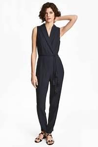 Combinaison Pantalon Femme Habillée : combi pantalon habill e bleu fonc femme h m fr ~ Carolinahurricanesstore.com Idées de Décoration