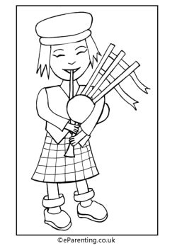 st andrews day colouring pictures