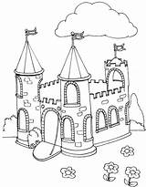 Coloring Castle Pages Medieval Flag Pig Peppa Kidsplaycolor Play Toy Story Frozen Sheets Dragon Lego Popular Innen Mentve Colouring sketch template