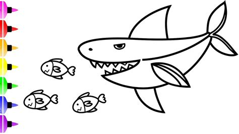 White Shark Coloring Pages & Art Coloring Book YouTube