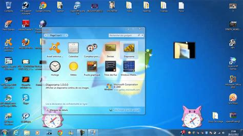 gadgets de bureau windows 7 mettre un gadget sur écran de ordi bureau