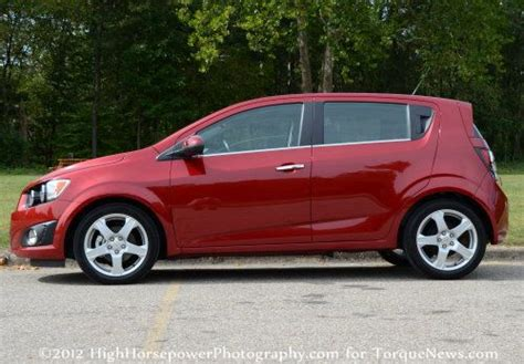 The Side Profile Of The 2012 Chevrolet Sonic Ltz 5-door Turbo