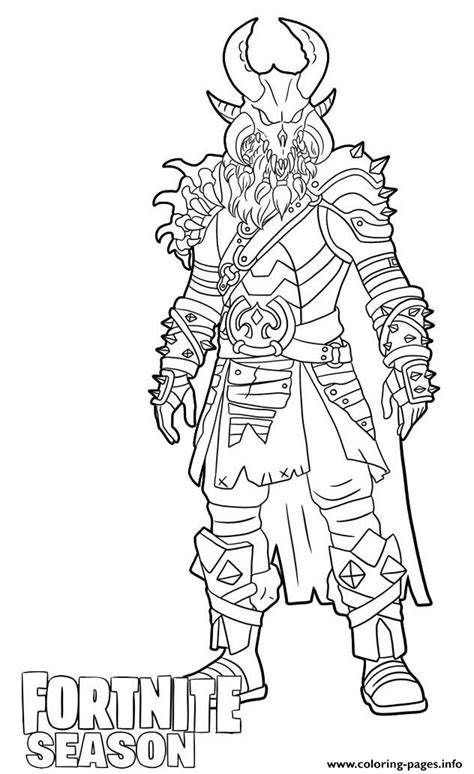Coloring Skin by Ragnarok Skin From Fortnite Coloring Pages Printable
