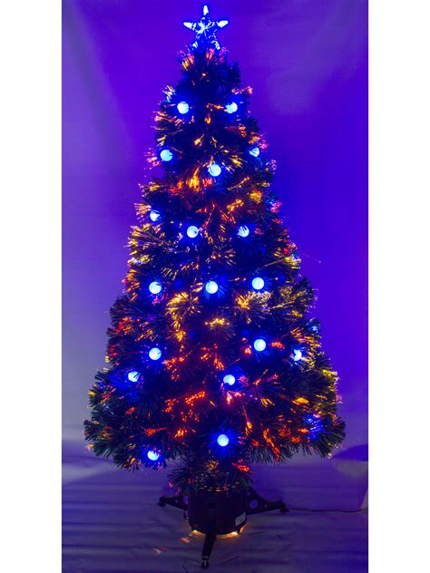 5ft 6ft pre lit fibre optic tree with led