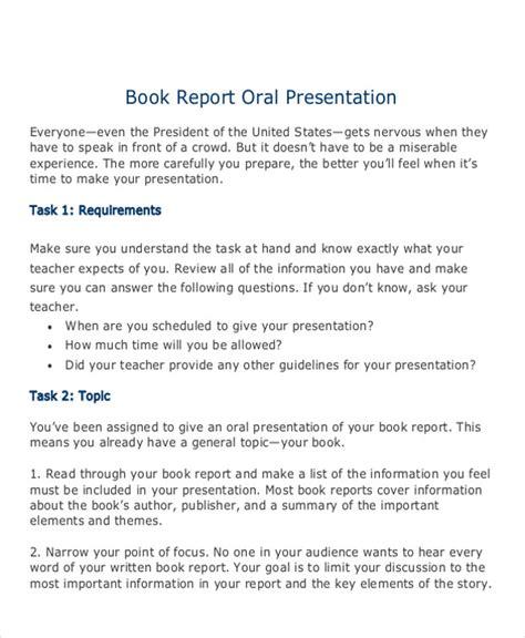 sample book report  sample  format