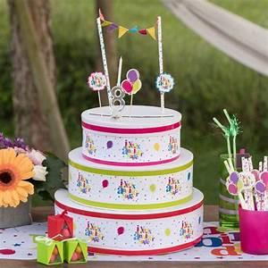 Deco Multicolore : kit d co de g teau joyeux anniversaire multicolore ~ Nature-et-papiers.com Idées de Décoration