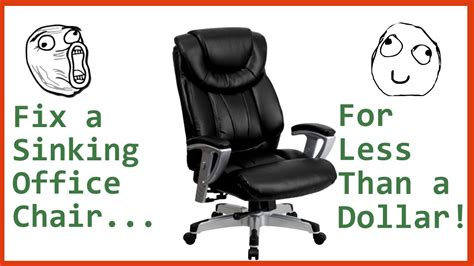 office chair keeps sinking fix a sinking office chair for less than a dollar