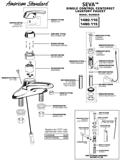 image american standard shower faucet parts diagram