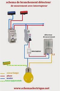 Ampoule Détecteur De Présence : schema electrique branchement cablage ~ Edinachiropracticcenter.com Idées de Décoration