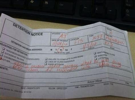 epic school detention slips yolo nothingsnormalcom