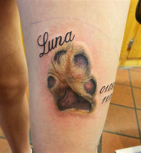 dog paw print tattoos    trend  theyre