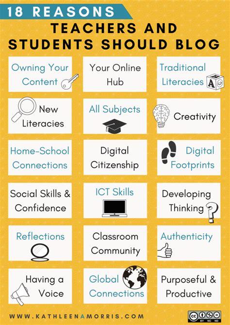 teachers  students  blog  benefits
