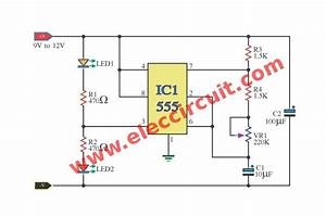 Ic 555 Led Flasher  U2013 Electronic Projects Circuits