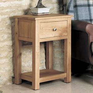 Mobel Solid Oak 1 Drawer Lamp Table Robson Furniture