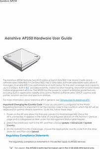 Aerohive Networks Ap250 Access Point User Manual Ap250