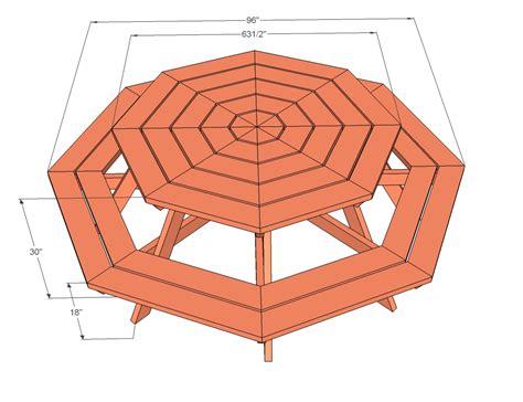wood coat pegs octagon picnic table   build