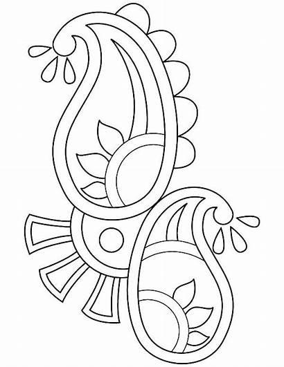 Paisley Coloring Rangoli Pages Designs Drawing Diwali