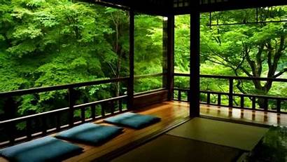Japanese Traditional Zen Japan Nature Balcony Temple