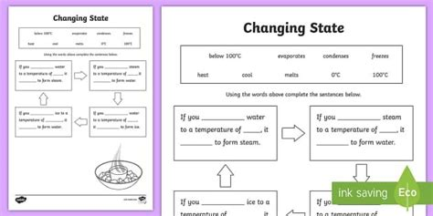 ks2 science changing materials worksheets resources
