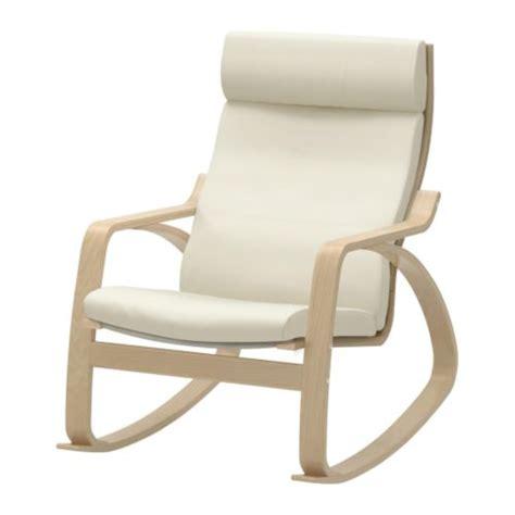 chaise à bascule ikea poäng rocking chair birch veneer glose eggshell ikea