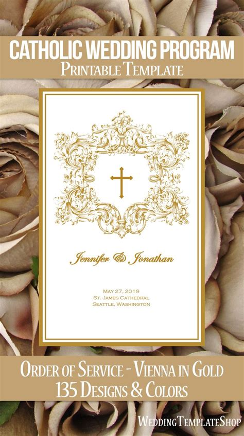 catholic wedding programs diy templates order  service
