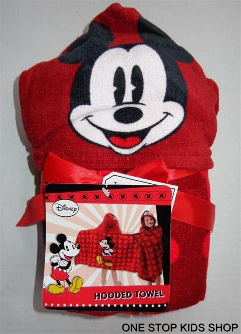 Mickey Mouse Bath Set Hooded Towels by Mickey Mouse Pool Hooded Towel Or Bath Set Washcloth Wash