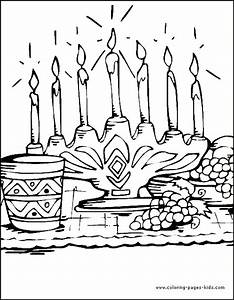 Kwanzaa Coloring Page - Kwanzaa candles